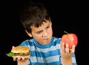 Apple vs Hamburger...Umm... What will your child choose?